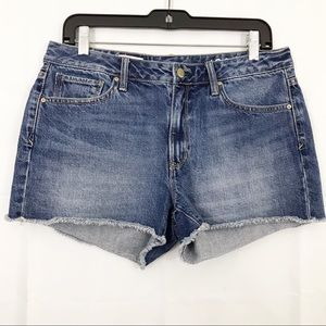 Gap Shorts Slim Cut Offs Denim Frayed Hems